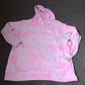 Victoria's Secret Pink Tie Dye Hoodie Sweatshirt